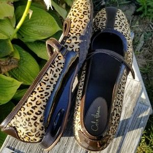Cole Haan + Nike Air Leopard print Mary Jane flats